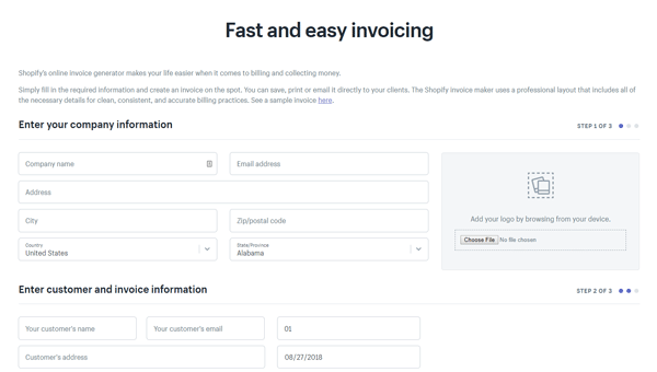 Shopify Invoice Generator Best Invoice Maker Apps for Small Business and Freelancer