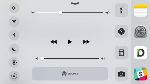 Show App List in Control Center for iOS using Keek