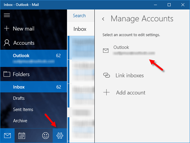 Sign Out from Mail App for Windows 10