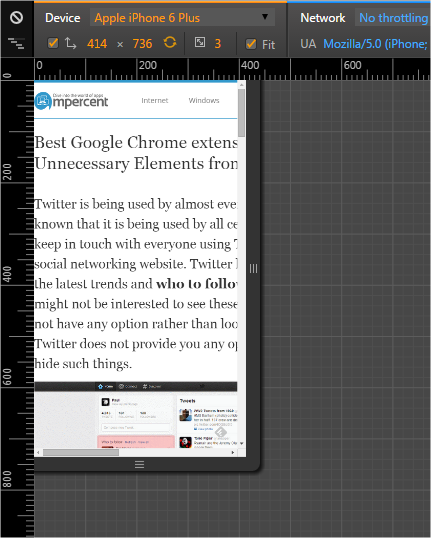 Test your website in Google Chrome