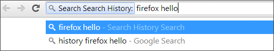 Tab search history