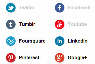 Social networks you've already clicked are greyed out.