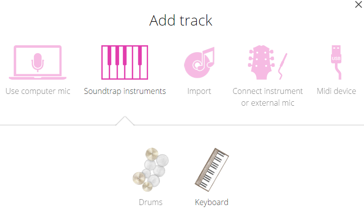 Soundtrap Instruments