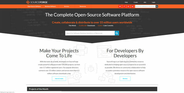 Sourceforge host open source project