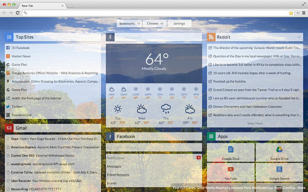 Start Best Extensions to Manage New Tab Page in Chrome