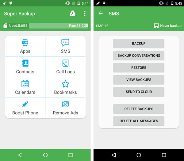 Super Backup Best Free Android Apps to Backup Data
