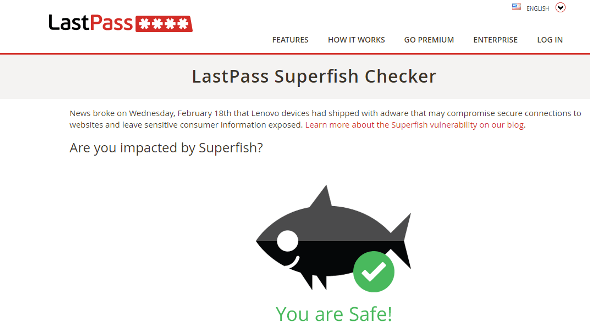 Superfish Checker Tool Lastpass