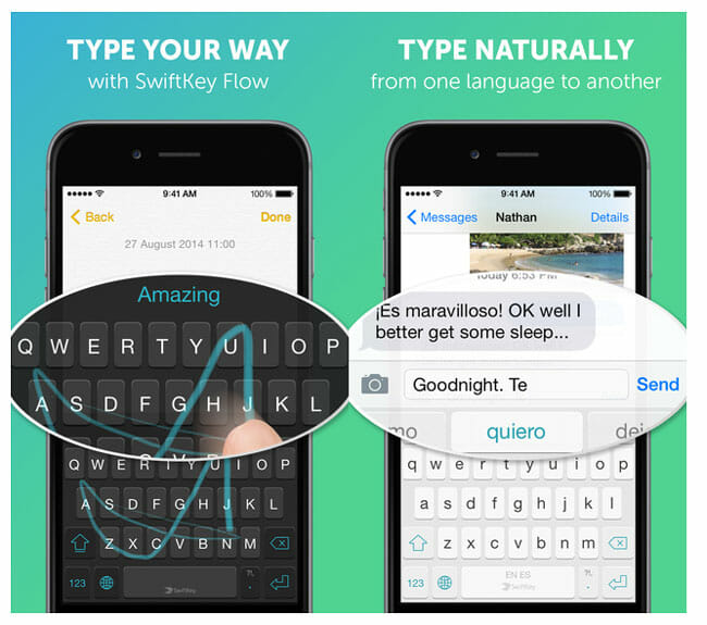 Swiftkey for iOS 8