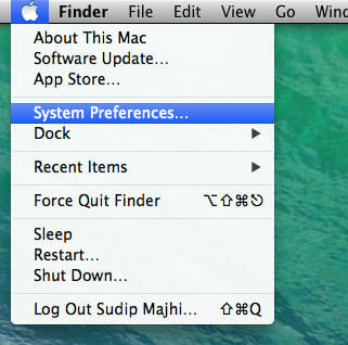 System Preferences  in Mac