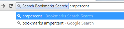 Tab bookmarks search