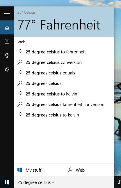 Temperature Converter in Cortana