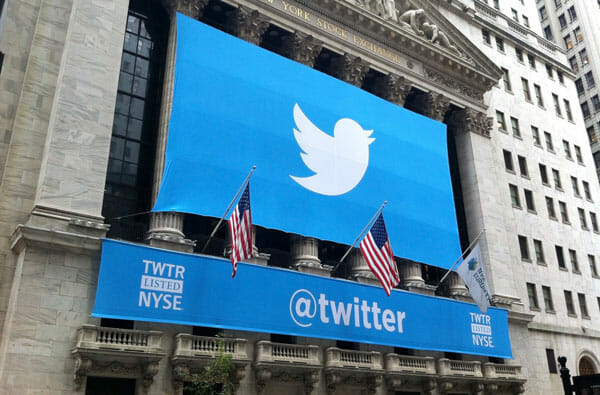 Twitter on New York Stock Exchange