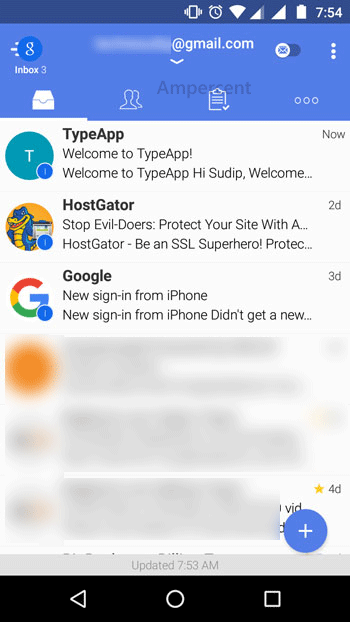 TypeApp Email interface