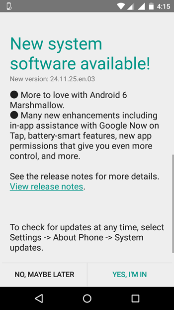 Update Moto G 3rd Gen to Android Marshmallow