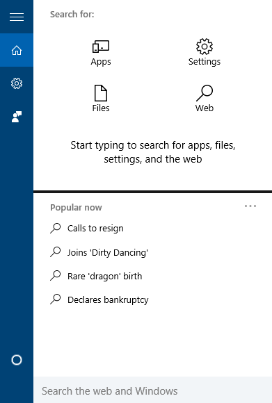 Use Search Filter in Windows 10