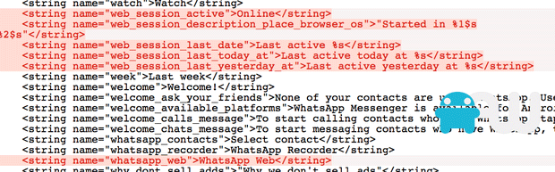 WhatsApp code for web version