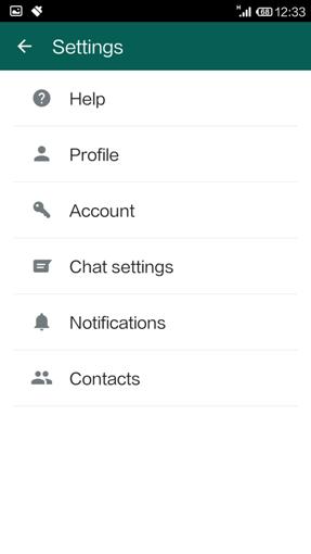 Whatsapp Settings Section