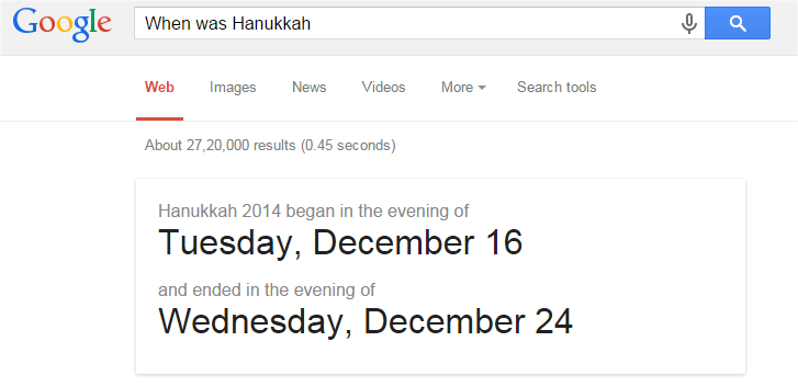 When was Hanukkah