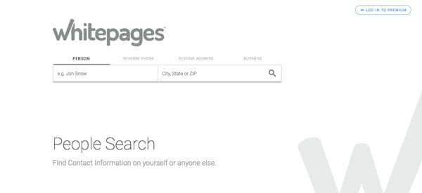 WhitePages Best people search engine to find anyone easily