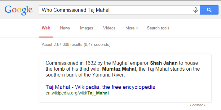 Who Commissioned Taj Mahal