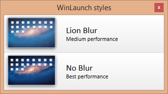 WinLaunch Starting option