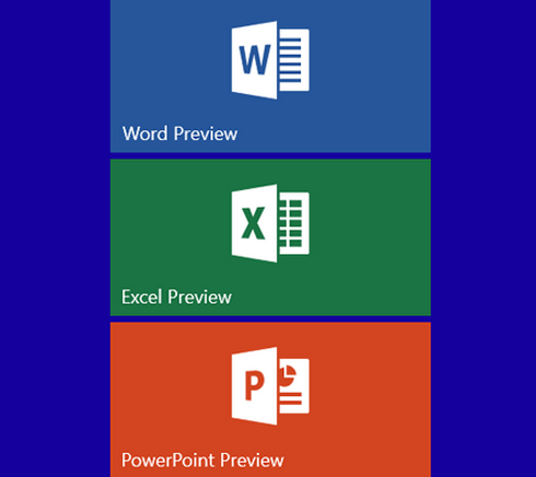 Downloading Universal Office Apps Word, Excel and Powerpoint to
