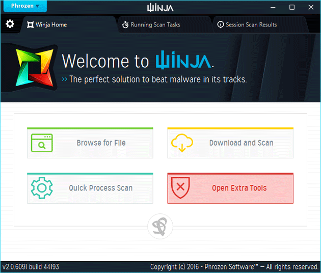 Winja Scans for Malware and Checks with VirusTotal