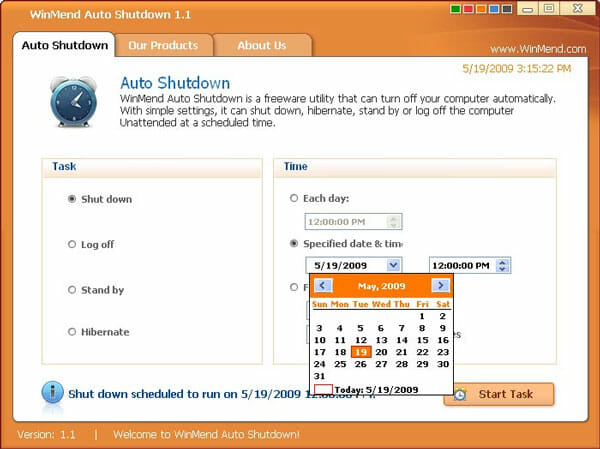 Winmend Auto Shutdown Best Ways to Shutdown Windows at Scheduled Time