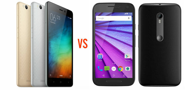 Xiaomi Redmi 3 vs Moto G 3rd Generation Detailed Comparison