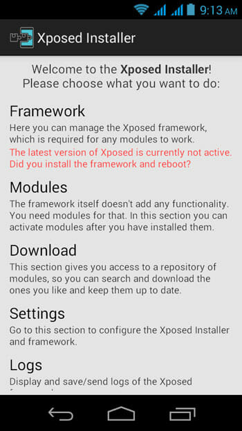 Xposed-Framework-start-screen