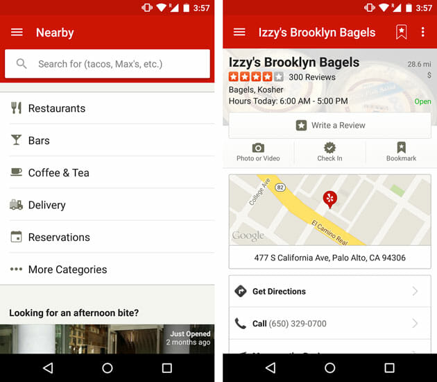 Yelp best food and dining apps for Android