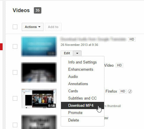 YouTube Video Settings