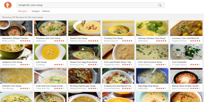 all recipe search in DDG