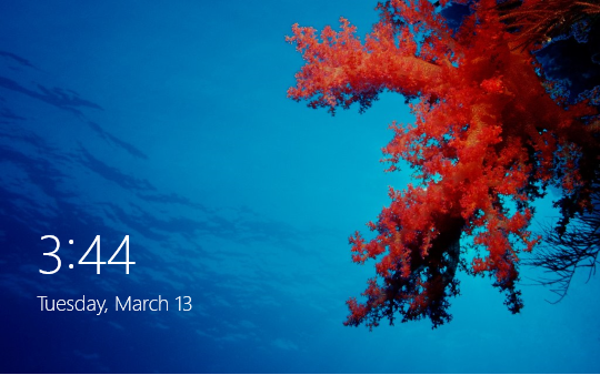 Default lock screen background in Windows 8
