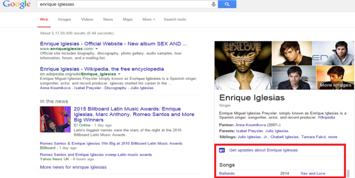 search songs in Google