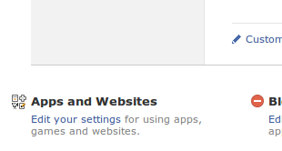 Facebook Apps and Websites Settings