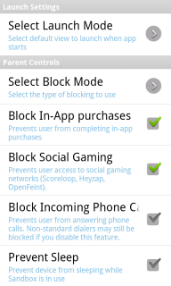 block Android applications
