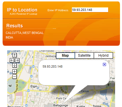 Find the location of an IP address