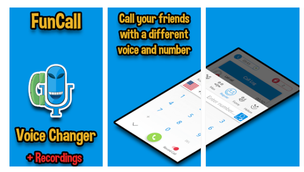 funcall in voice changer and call recorder