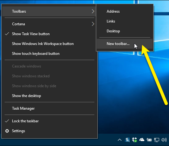 How to Get Quick Launch Bar on Windows 10, 8 or 7?