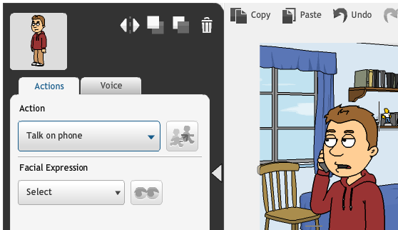 GoAnimate - Add Actions