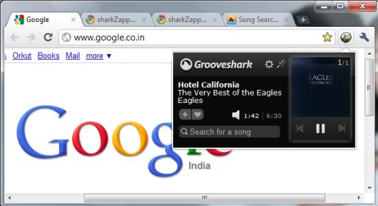 Grooveshark Player for Google Chrome