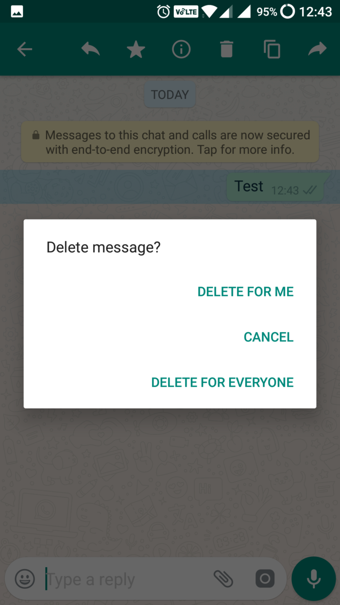 how to delete a whatsapp message - delivered but deleted