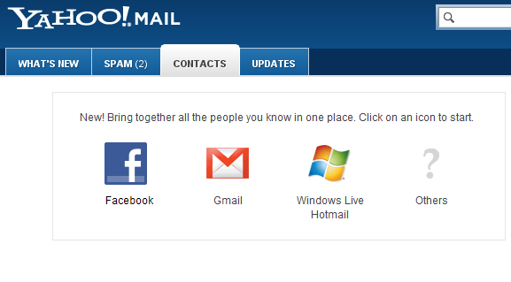 Import Facebook friends email address to yahoo
