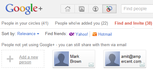 Invite Facebook friends on Google Plus