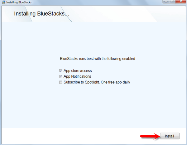 installing bluestacks - run whatsapp on pc