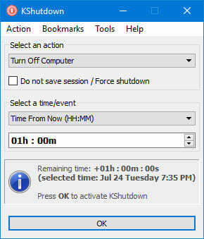 kShutdown Best Ways to Shutdown Windows at Scheduled Time