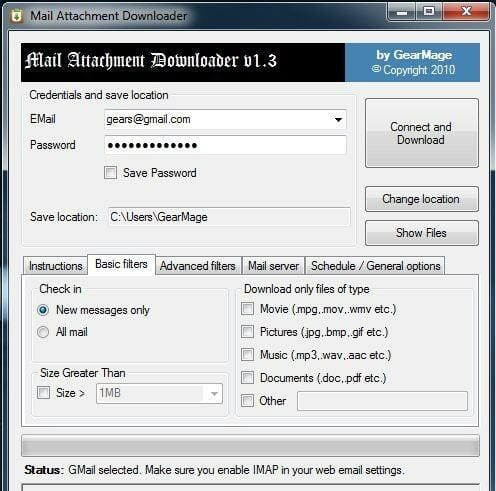 Mail-Attachment-Downloader-User-Interface