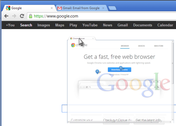 Manage Tabs - Google Chrome