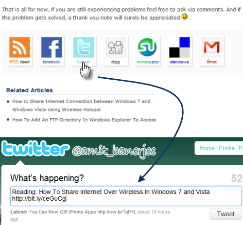 Add Tweet this button in Wordpres without any plugin